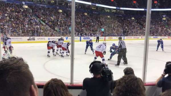 Rogers Arena, section: 109, row: 4, seat: 104