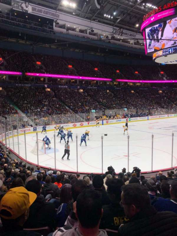 Rogers Arena, section: 109, row: 14, seat: 105