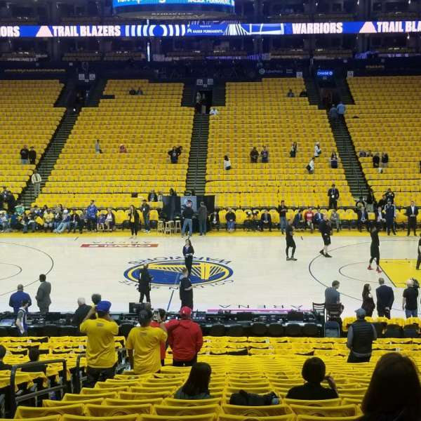 Oracle Arena , section: 128, row: 12, seat: 12