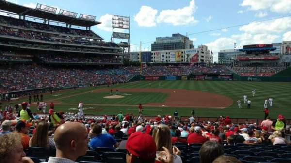 Nationals Park, section: 130, row: MM, seat: 10