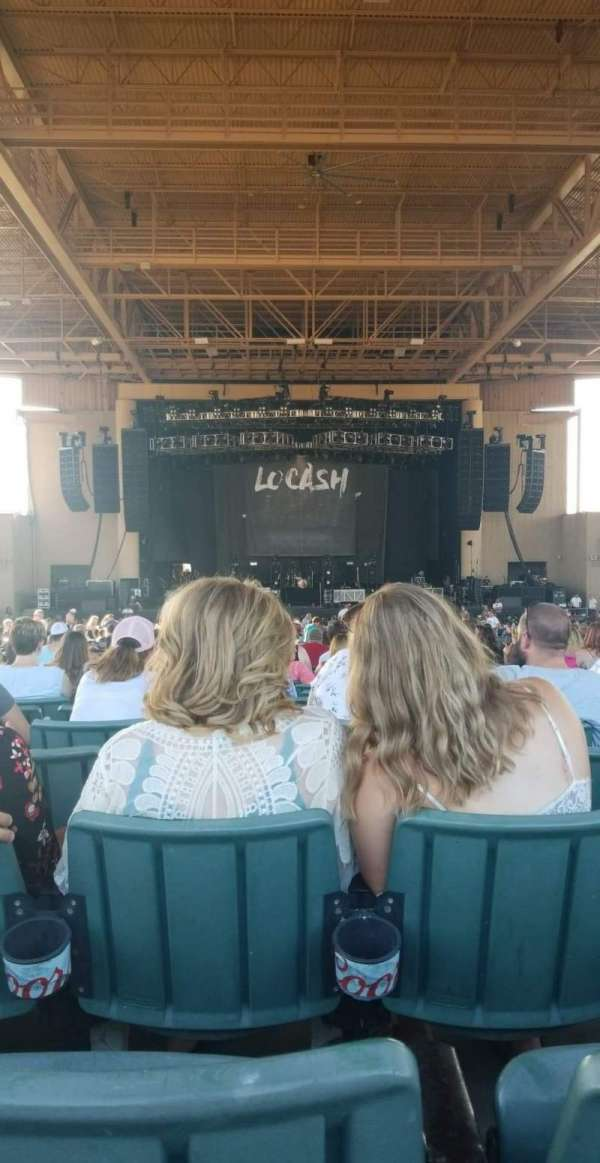 Ruoff Music Center, section: F, row: W, seat: 13