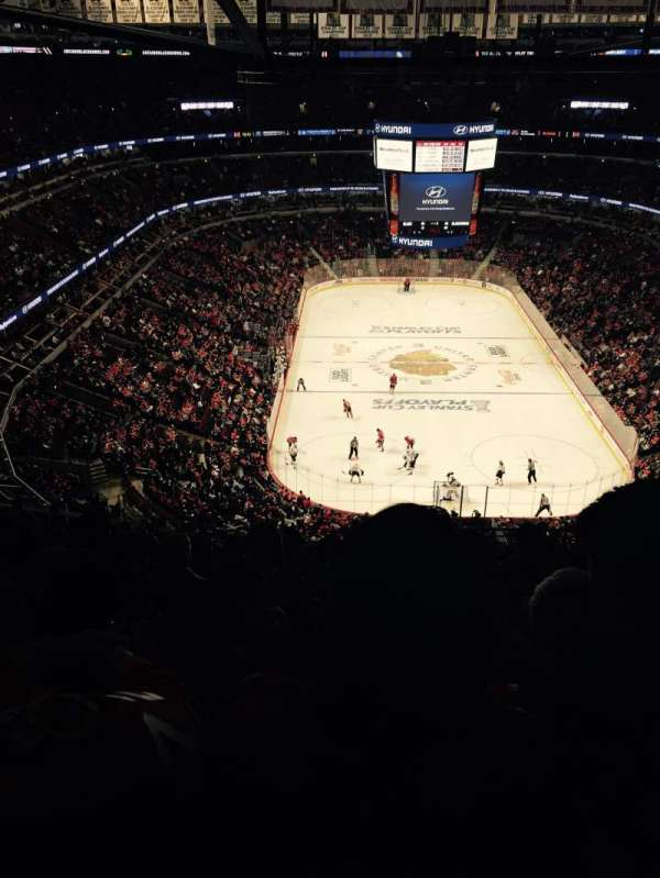 United Center, section: 327, row: 16, seat: 4