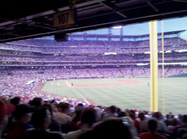 Citizens Bank Park, section: 107, row: 19, seat: 13