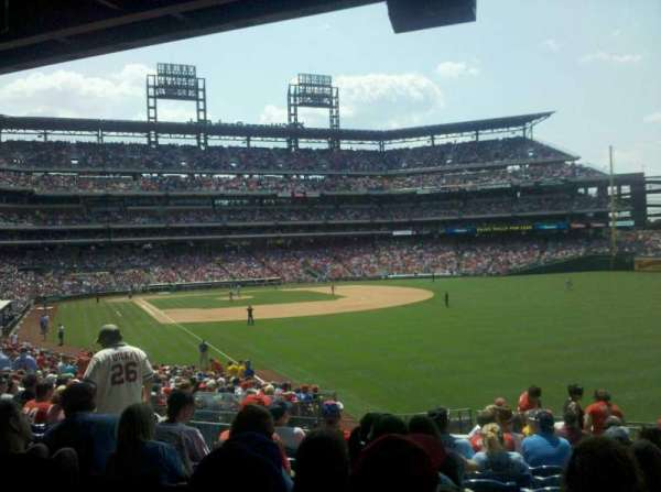 Citizens Bank Park, section: 107, row: 17, seat: 21