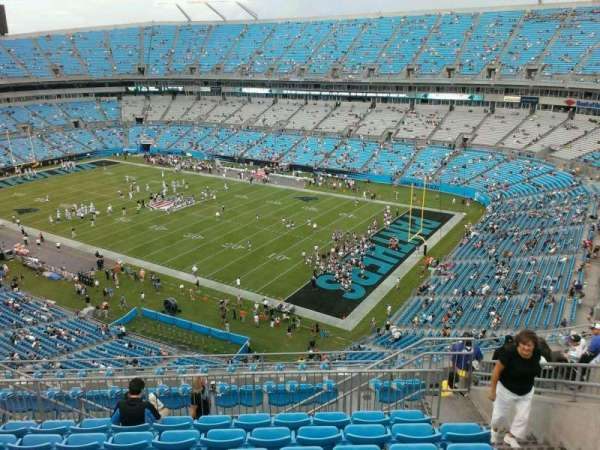 Bank of America Stadium, section: 536, row: 8, seat: 10