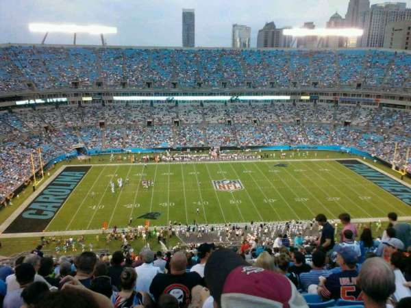 Bank of America Stadium, section: 543, row: 20, seat: 13