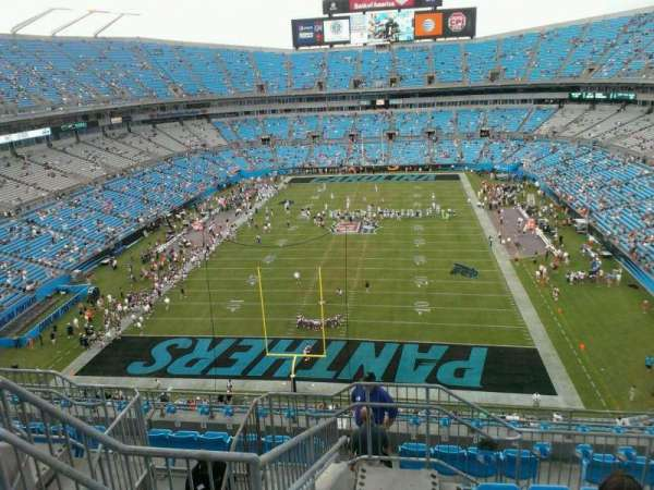 Bank of America Stadium, section: 527, row: 6, seat: 21