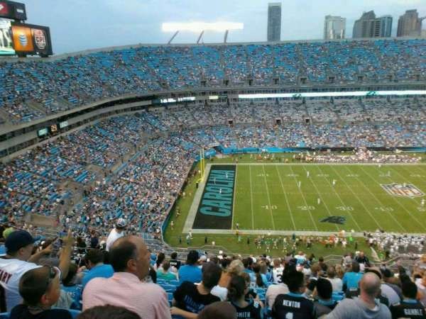 Bank of America Stadium, section: 545, row:  20, seat: 13