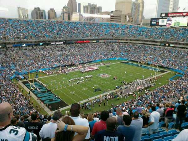 Bank of America Stadium, section: 548, row: 21, seat: 12