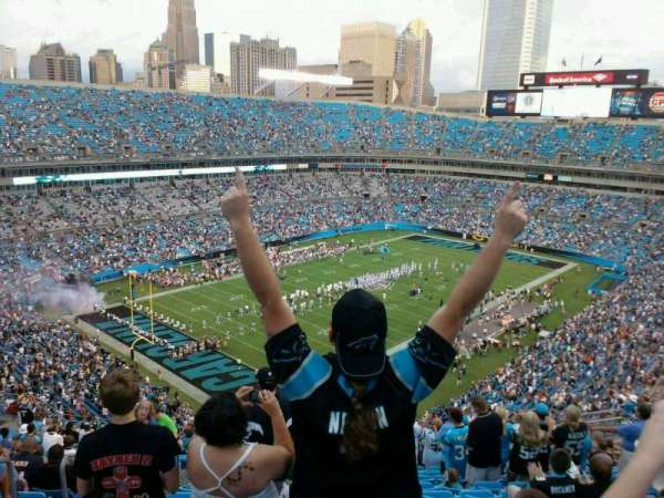Bank of America Stadium, section: 550, row: 19, seat: 20