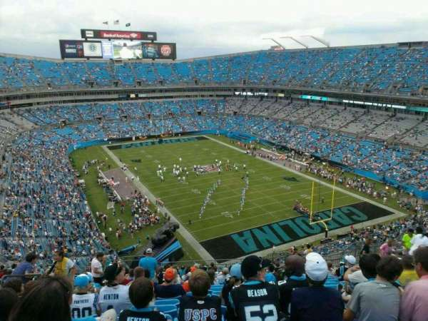 Bank of America Stadium, section: 505, row: 18, seat: 25