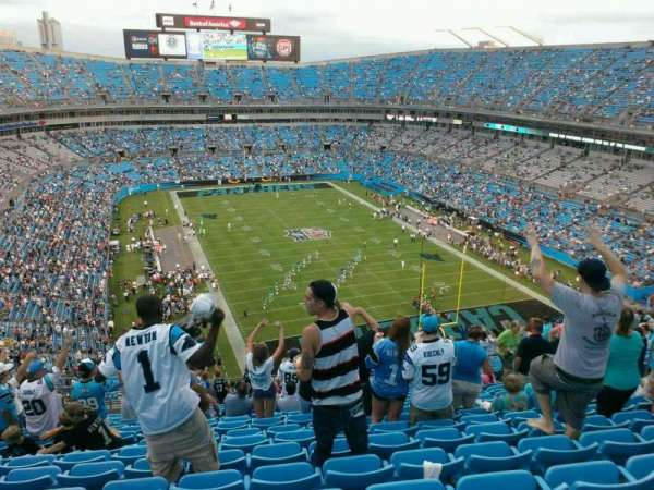 Bank of America Stadium, section: 504, row: 19, seat: 15