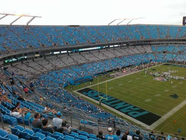 Bank of America Stadium, section: 525, row: 12, seat: 13