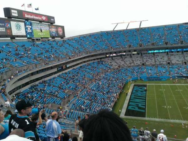 Bank of America Stadium, section: 518, row: 13, seat: 15