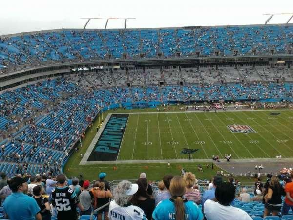 Bank of America Stadium, section: 517, row: 15, seat: 22