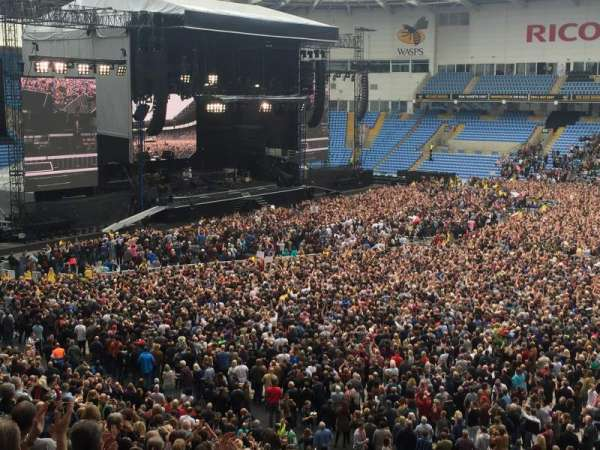 Coventry Building Society Arena, section: Block 20, row: GG, seat: 3