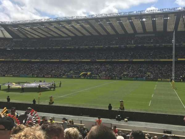Twickenham Stadium, section: L22, row: 21, seat: 109