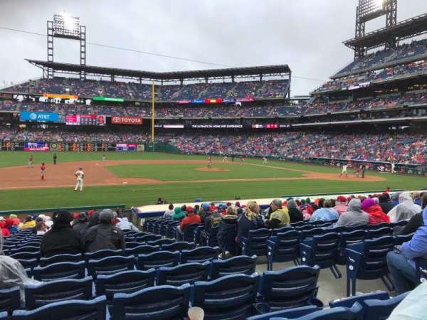 Citizens Bank Park, section: 132, row: 18, seat: 5