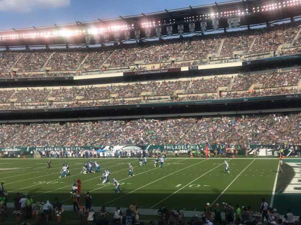 Lincoln Financial Field, section: 105, row: 20, seat: 18