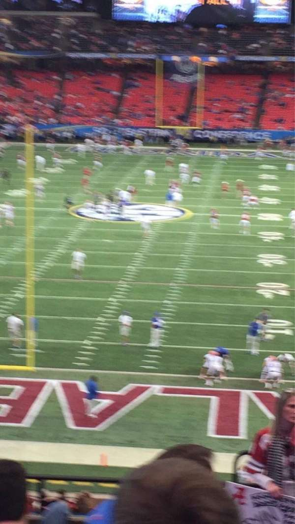 Georgia Dome, section: 208, row: 8, seat: 20