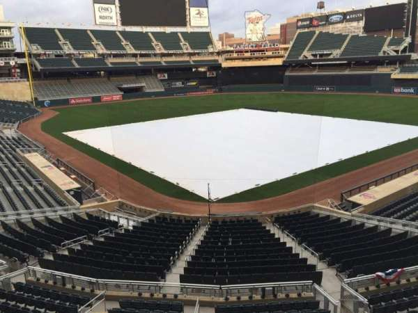 Target Field, section: G, row: 1, seat: 16