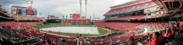 Great American Ball Park, section: 119, row: AA, seat: 1