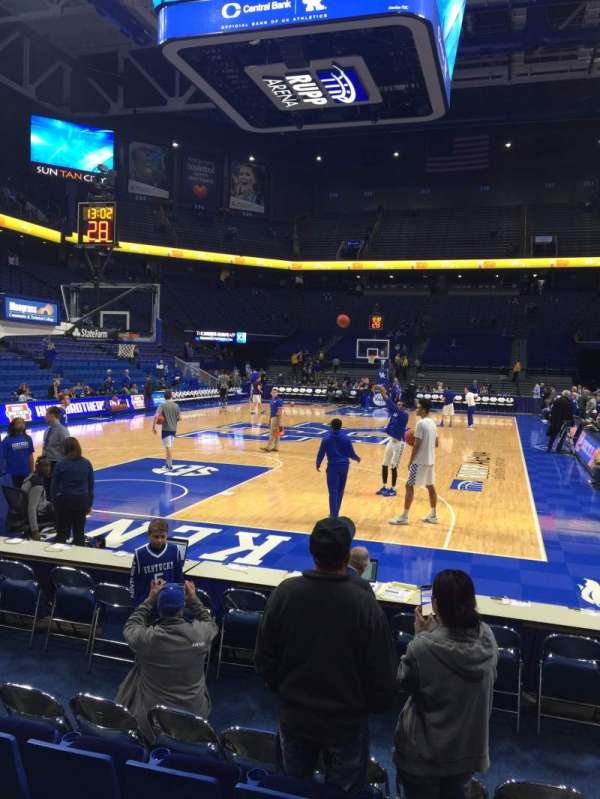 Rupp Arena, section: 22, row: EE, seat: 1