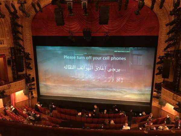 Ethel Barrymore Theatre, section: Rear Mezzanine R, row: A, seat: 2