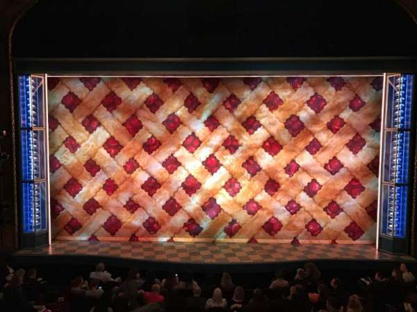 Brooks Atkinson Theatre, section: Front Mezzanine C, row: A, seat: 108