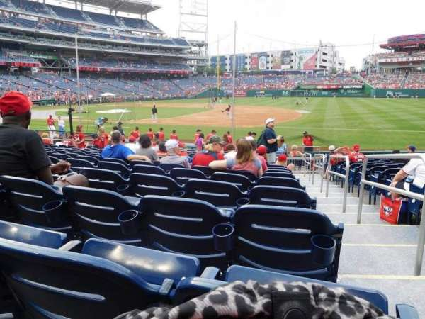 Nationals Park, section: 131, row: U, seat: 1
