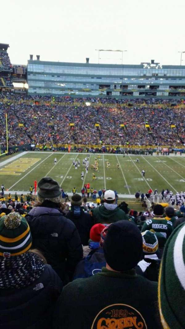 Lambeau Field, section: 123, row: 49, seat: 22