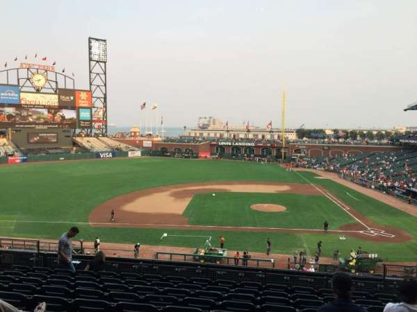 Oracle Park, section: 222, row: J, seat: 7