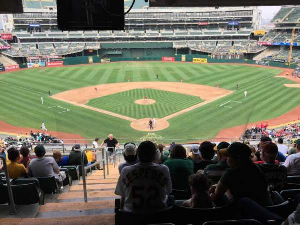 Oakland Coliseum, section: 217, row: 17, seat: 12