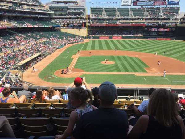 Target Field, section: D, row: 7, seat: 4