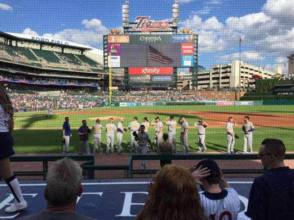 Comerica Park, section: 122, row: 10, seat: 3