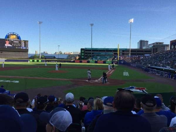 Sahlen Field, section: 105, row: K, seat: 5