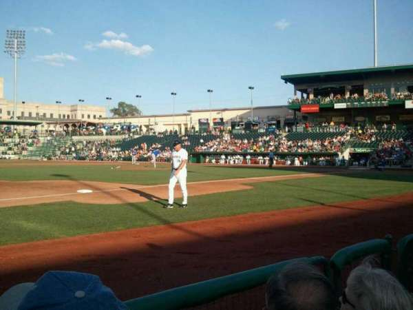 Parkview Field, section: 114, row: D, seat: 6