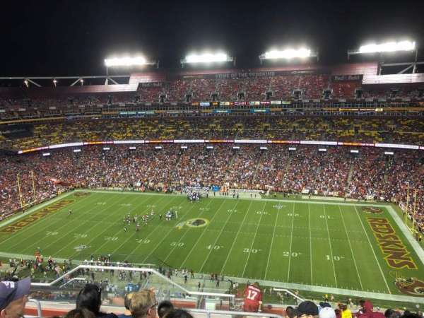 FedEx Field, section: 452, row: 13, seat: 20