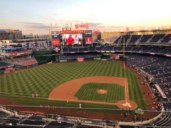 Nationals Park, section: 409, row: D, seat: 7