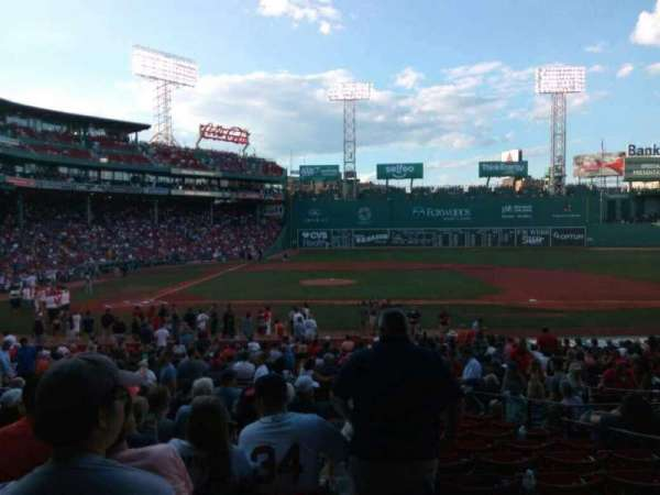 Fenway Park, section: Loge Box 118, row: mm, seat: 1