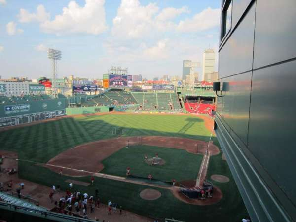 Fenway Park, section: State Street Pavilion Club, row: 1, seat: 1