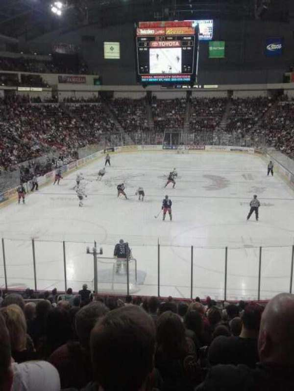 Giant Center, section: 101, row: T, seat: 8