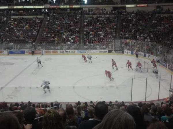 Giant Center, section: 122, row: T, seat: 17