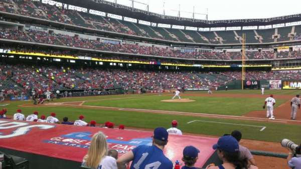 Globe Life Park in Arlington, section: 34, row: 7, seat: 5