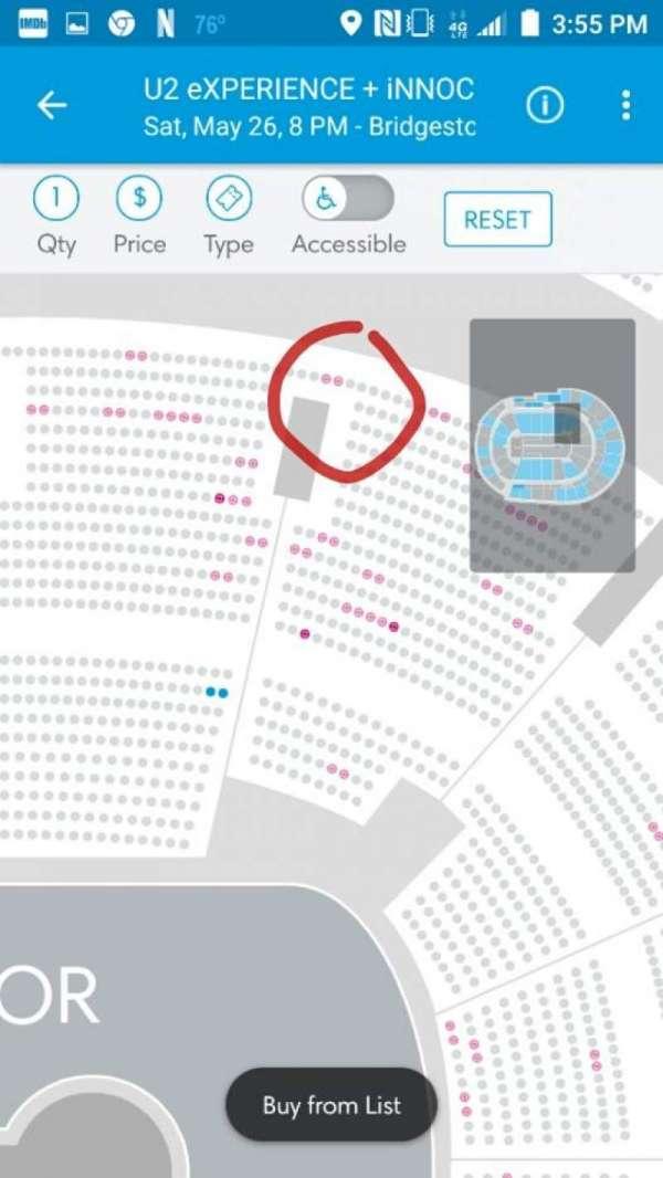 Bridgestone Arena, section: 104, row: P, seat: 25-26