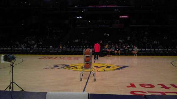 Staples Center, section: 101CT, row: A, seat: 10