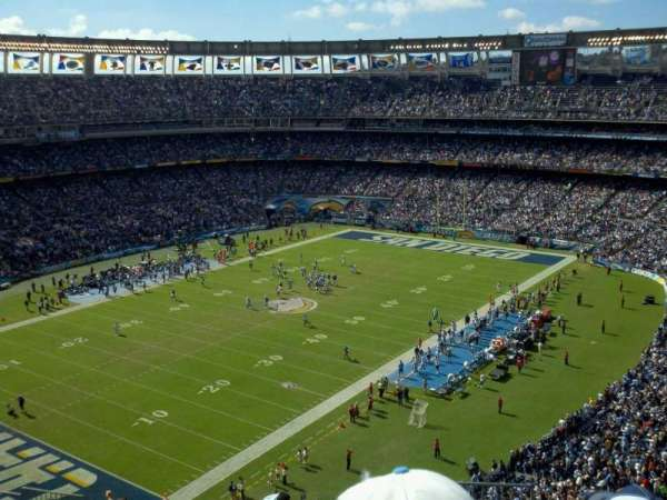 San Diego Stadium, section: V58, row: 14, seat: 18