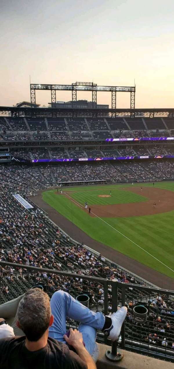 Coors Field, section: L312, row: 3, seat: 14