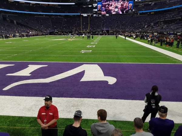 U.S. Bank Stadium, section: 140, row: 1, seat: 6