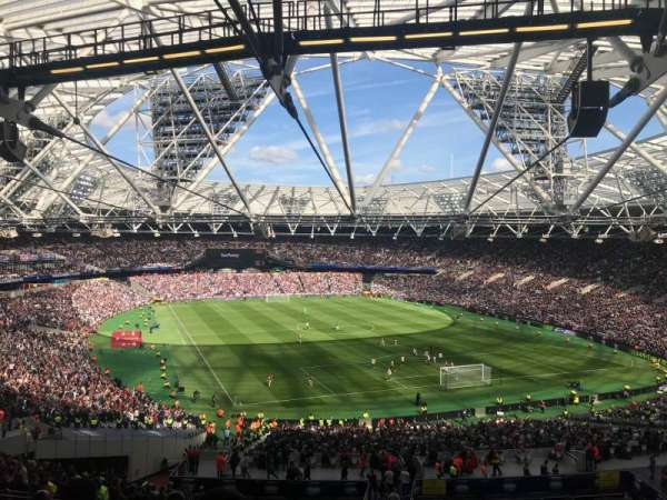 London Stadium, section: 218, row: 58, seat: 116